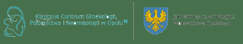 Logo Klinicznego Centrum Ginekologii, Położnictwa i Neonatologii w Opolu oraz Jednostki Samorządu Województwa Opolskiego