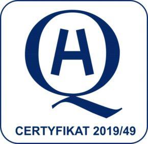 Certyfikat akredytacji słowo H w obwódce