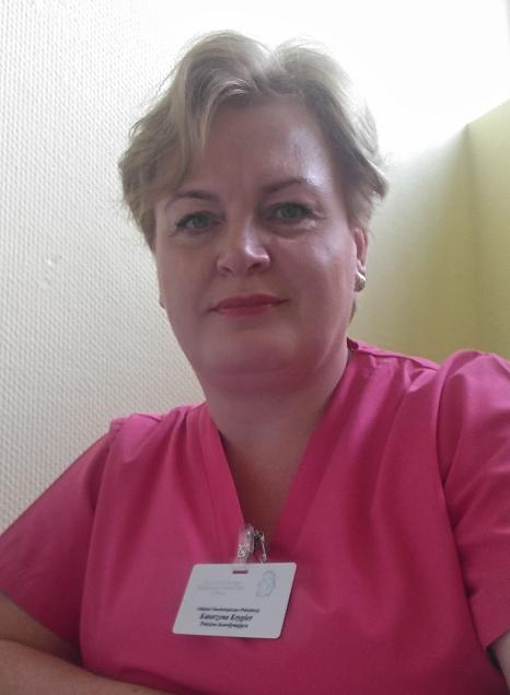położna koordynująca na sali porodowej, Katarzyna Krygier